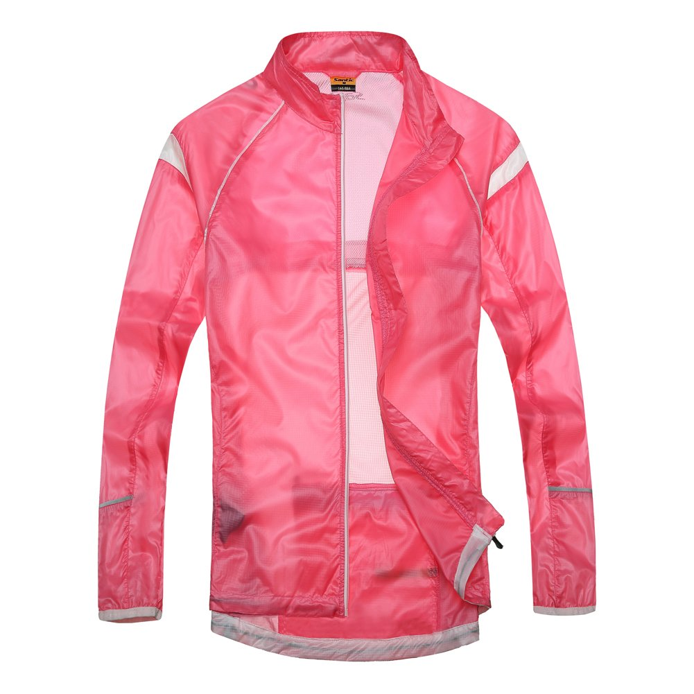 Santic Women's Windproof UV Protection Cycling Jacket Long Sleeve Wind Coat Pink SANTIC(QUANZHOU) SPORTS CO. LTD.