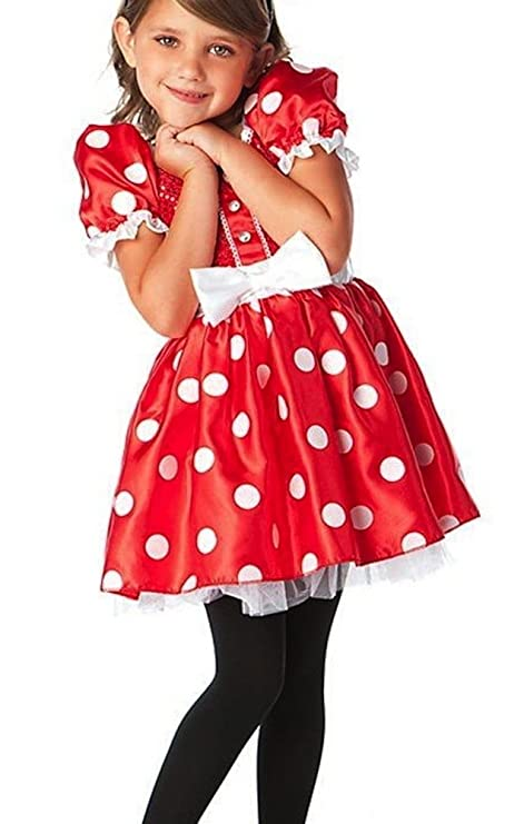 0c66e497e37c Amazon.com: Disney Store Red Minnie Mouse Halloween Costume Dress Size Small  5/6 - 5T: Toys & Games