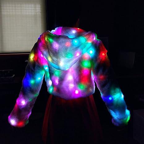 Amazon.com: Ohlees - Abrigo luminoso con luces LED, para ...