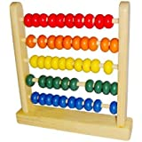 MAGIKON Miniature Wooden Abacus Counting Number Frame Maths Aid Educational Toy 50 Beads