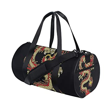 ZOMOY Bolsa de Deporte,Color del diseño del dragón asiático del ...