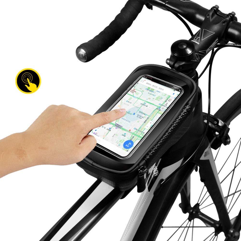 CETECK Sacoche V/élo Cadre Etanche Sacoche Guidon V/élo avec /Écran Tactile Support V/élo T/él/éphone Pochette Velo Guidon pour iPhoneXS Max//XR//X//8Plus//Samsung S9//S8//S7 jusqu/à 6.5 Rouge