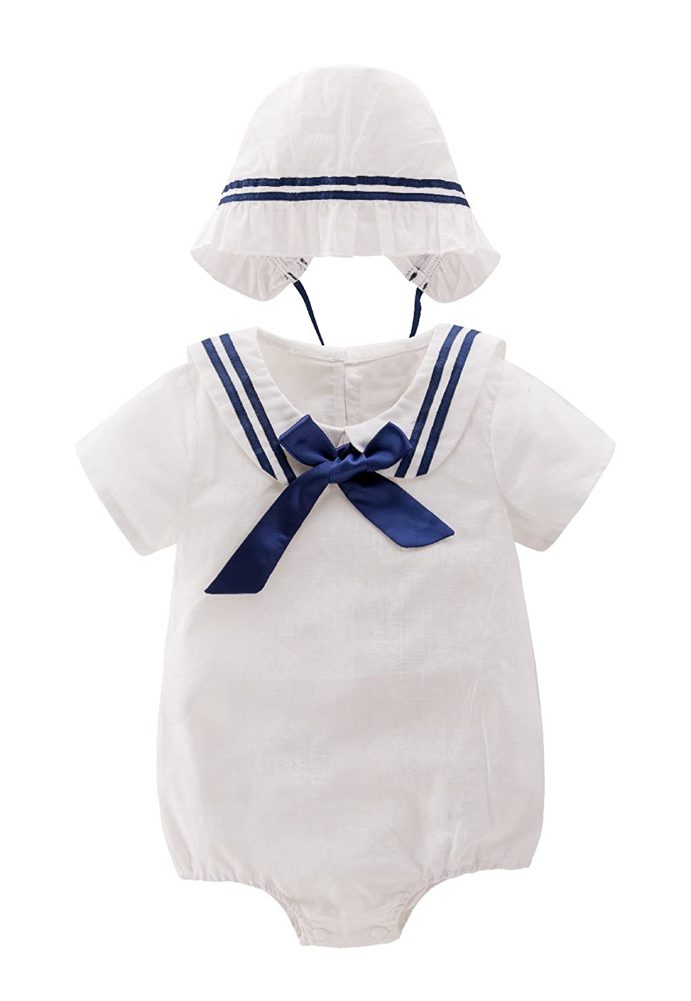 Mays Baby Toddler Girls Romper Jumpsuit Bodysuit Tutu Lace Dress Clothes Outfit with Hat