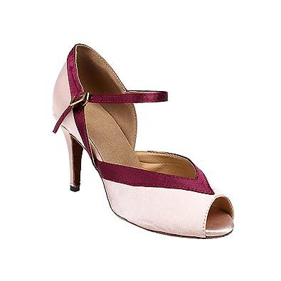 misu - Zapatillas de danza para mujer Rosa rosa, color Rosa, talla 37