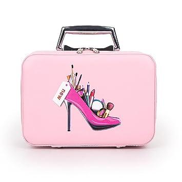 Gespout Neceser Maquillaje Estuche Cosmético Bolsa Mujer Niña Viaje Bolso Mano Cuero Make UP Pouches Pincel Maquillaje Organización Almacenamiento ...