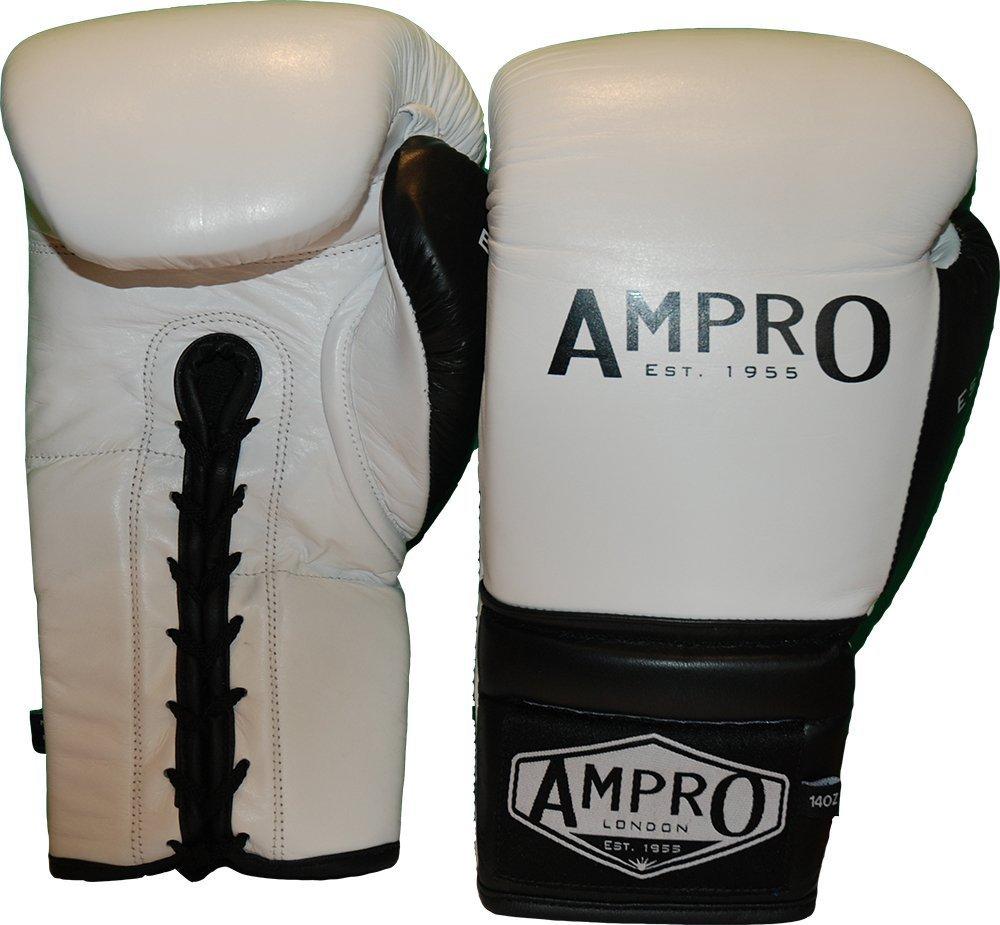 AMPRO Madison MKII jusquen dentelle Gants dentra/înement Blanc//Noir