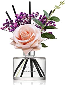 Cocod'or Rose Reed Diffuser/Garden Lavender/6.7oz(200ml)/1 Pack/Reed Diffuser, Reed Diffuser Set, Oil Diffuser & Reed Diffuser Sticks, Home Decor & Office Decor, Fragrance and Gifts