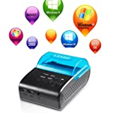 Bluetooth Printer, LESHP 58mm High-Speed Printing Mini Portable Wireless Receipt Thermal Printer USB POS Printer Compatible for IOS Android System Mobile