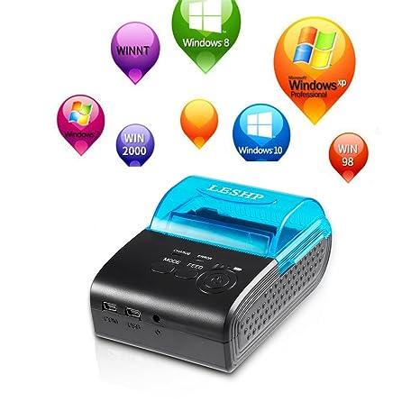 Impresora Bluetooth LESHP de 58 mm, de alta velocidad, mini ...