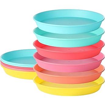 VAJILLA DESECHABLE DE 40 PIEZAS | 20 platos grandes | 20 platos de ensalada | Platos de plástico resistente | Aspecto de porcelana elegante | Colección Pastel (Rosado): Amazon.es: Hogar