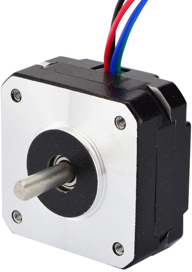 STEPPERONLINE 0.9deg Nema 17 Stepper Motor Bipolar 1.2A 11Ncm/15.6oz.in 42x42x20mm 4-wires - -