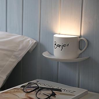 Led Mini Lade Voice Aktivierten Tasse Wandleuchte Persönlichkeit Ideen Gang  Kleiderschrank Schlafzimmer Leuchtmittel