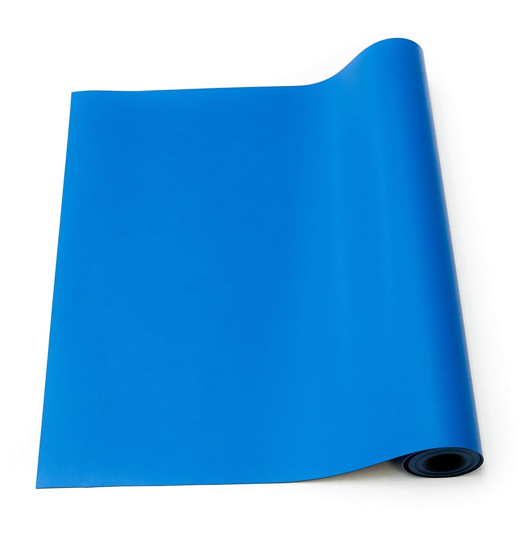 76,5 cm x 47 cm x 0,2 cm Alfombra de soldadura antiest/ática juego de alfombrillas de goma de alta temperatura ESD con correa de mano y cord/ón de tierra color azul