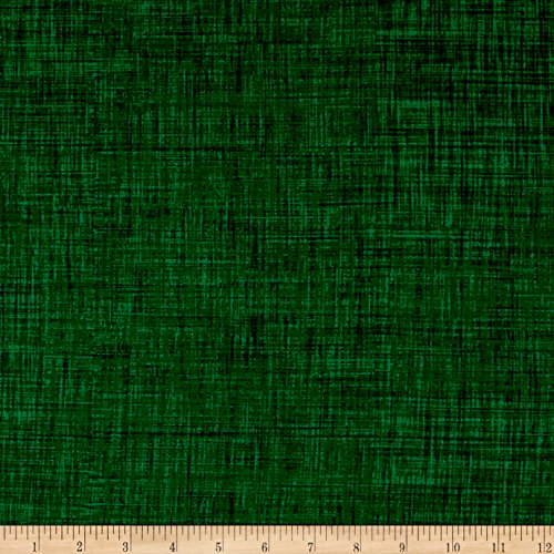 P & B Textiles Color Weave Green Fabric by The Yard -  0564611