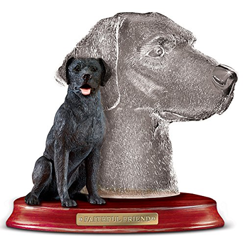 Black Lab Faithful Friend Collectible Dog Figurine by The Bradford Exchange