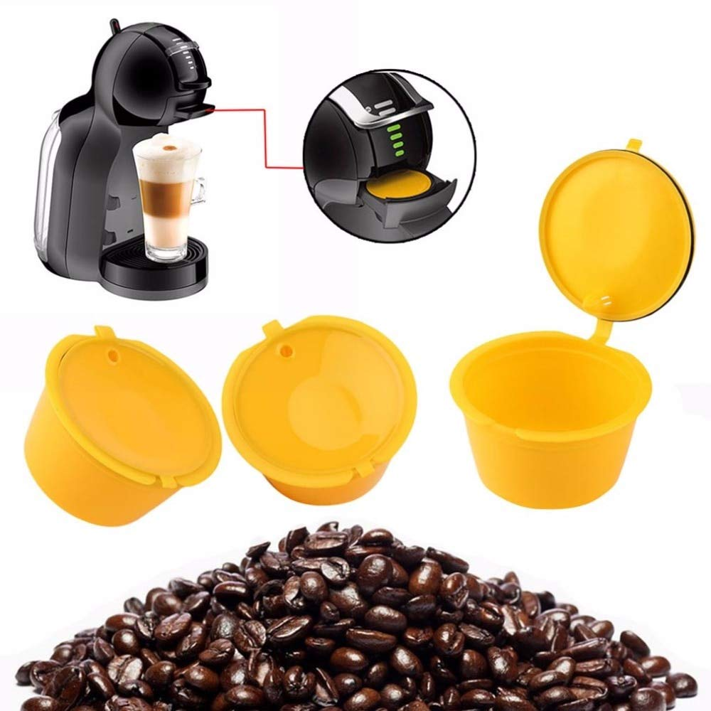 BIRD WORKS - 1 cápsula de café Reutilizable de plástico ...