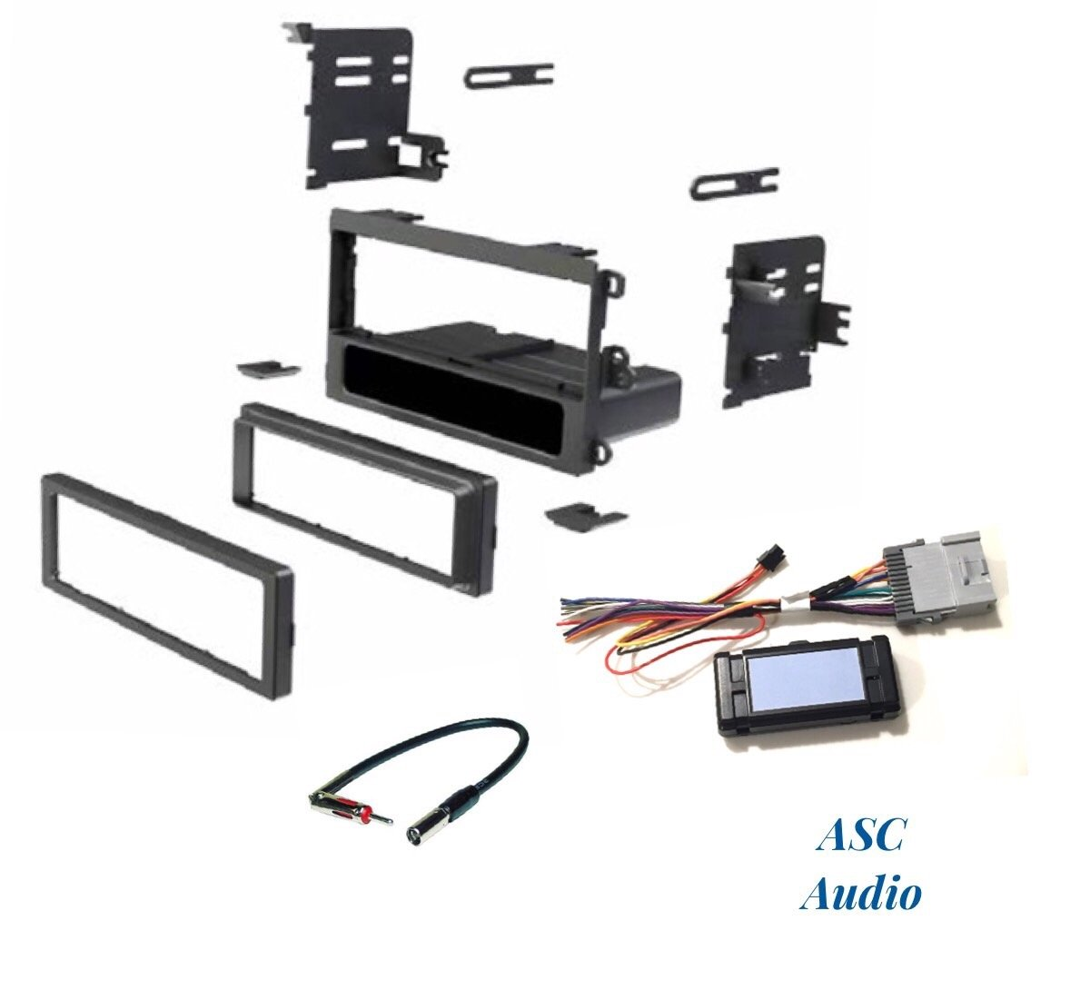 Asc Audio Car Stereo Dash Kit Wire Harness And Antenna 1975 Gmc Blazer Wiring Adapter To Add A Single Din Radio For Some Buick Chevrolet Isuzu Oldsmobile Pontiac