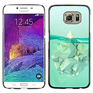 Plastic Shell Protective Case Cover    Samsung Galaxy S6 SM-G920    Iceberg Meaning Warming Polygon @XPTECH