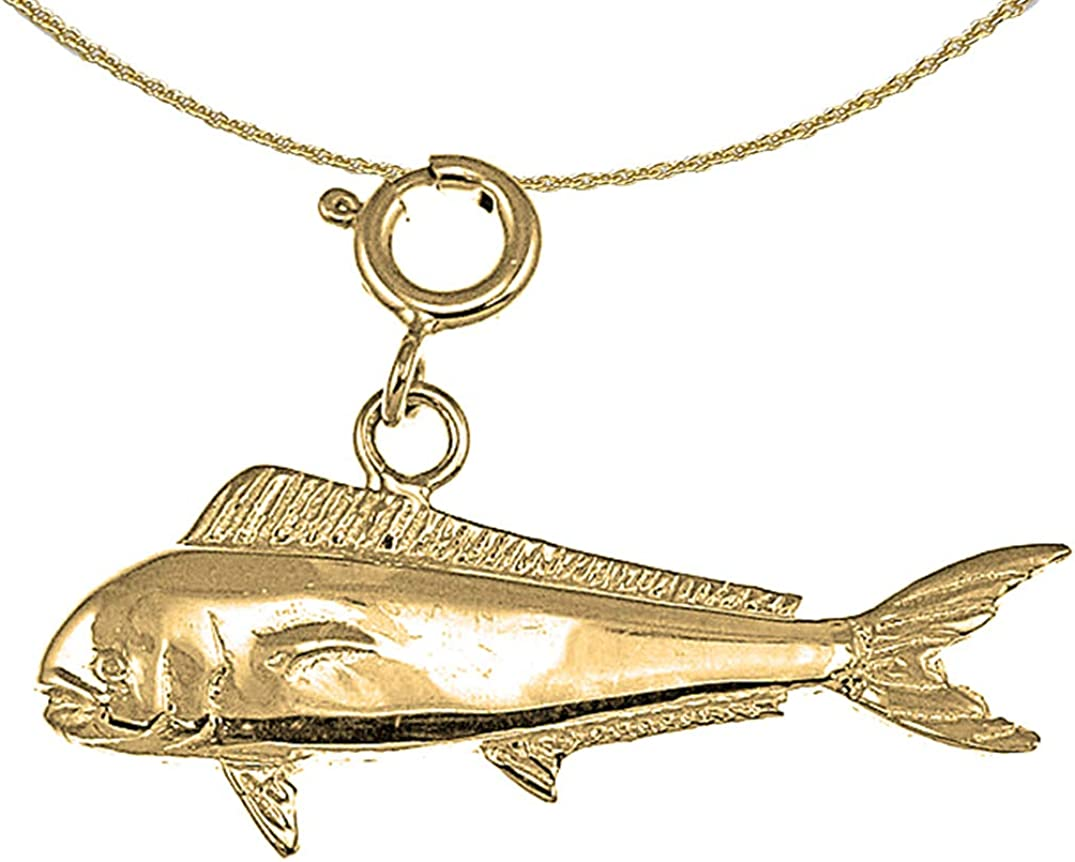 JewelsObsession Sterling Silver 20mm Dolphin Charm w//Lobster Clasp
