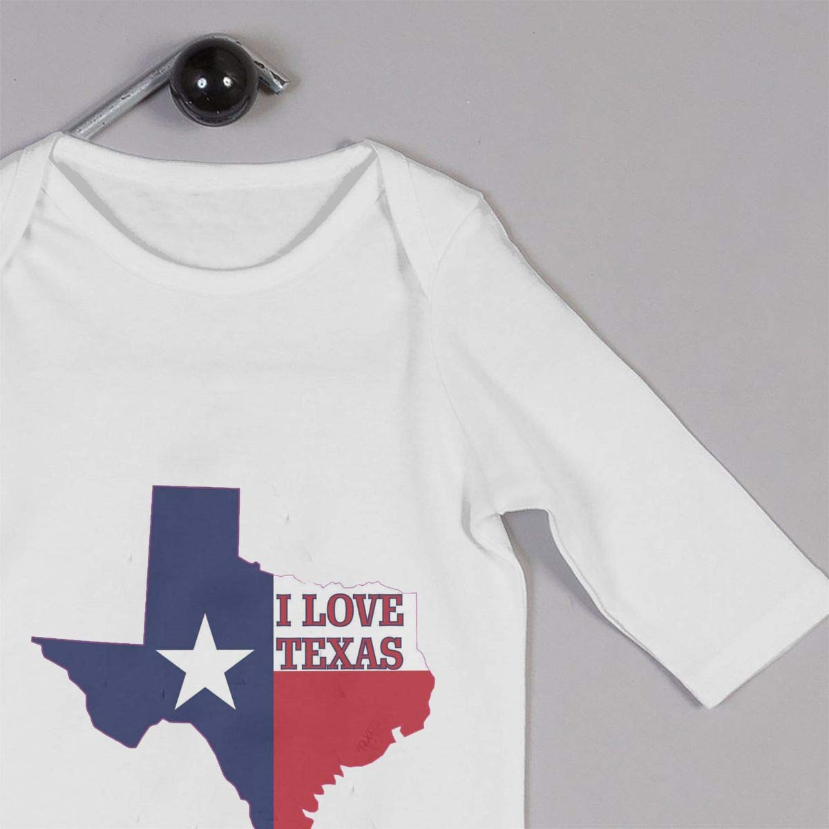 I Love Texas Newborn Baby Long Sleeve Bodysuits Rompers Outfits