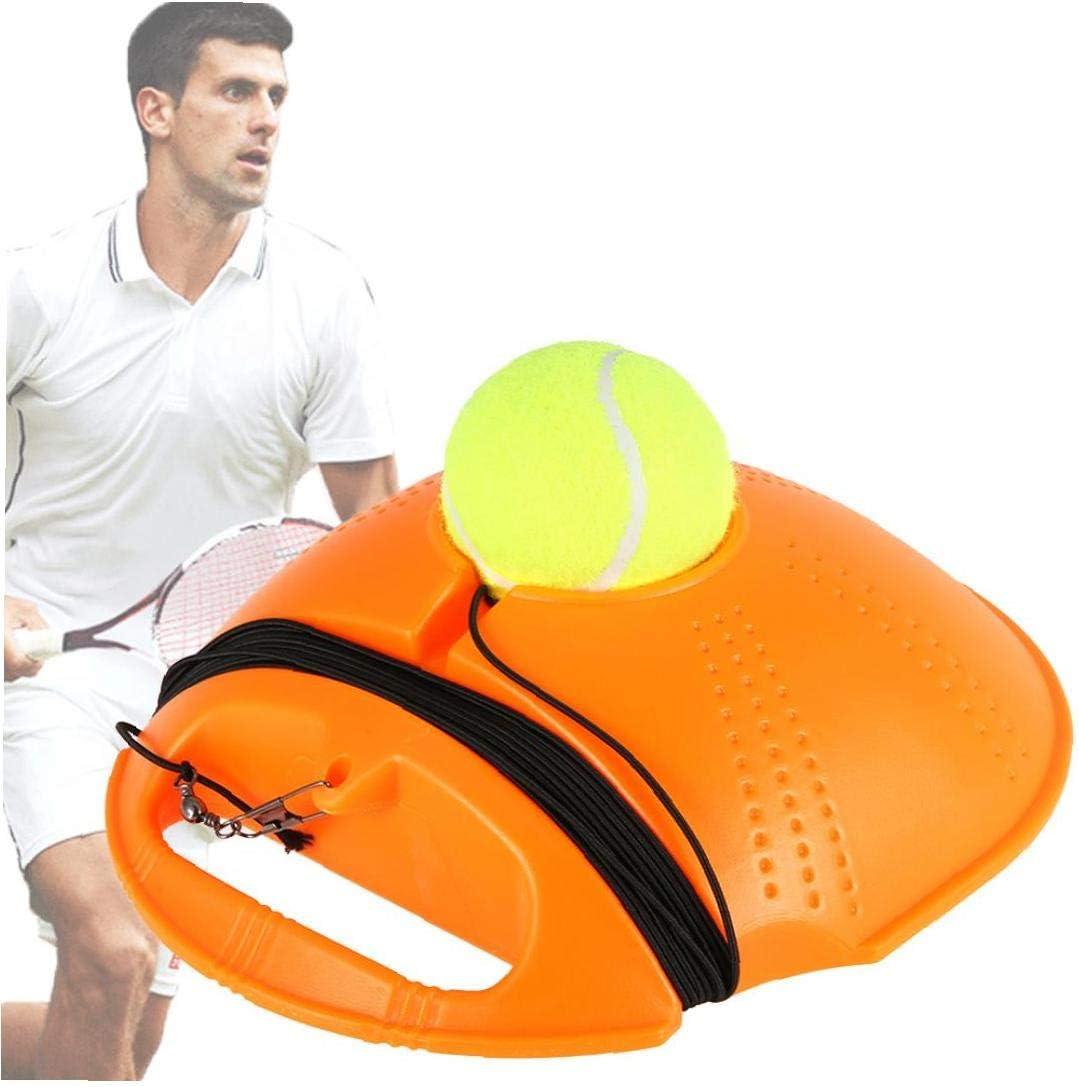 1pc Tenis Trainer Rebote De La Pelota De Tenis Equipamiento De La Práctica De La Máquina Pelota De Tenis Engranaje Entrenamiento Portátil para Los Niños Jugador Principiante (Naranja)