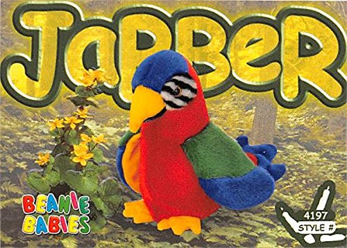 Jabber Parrot trading card Beanie Babies 1999 TY #4197