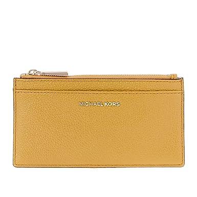 b4002f2c9c95 Amazon.com: Michael Kors Large Pebbled Leather Card Case- Marigold ...