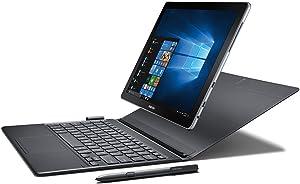 """Samsung Galaxy Book 12"""" Windows 2-in-1 PC (Wi-Fi) Silver, 4GB RAM/128GB SSD, SM-W720NZKBXAR"""