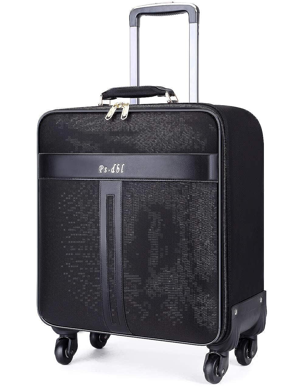 Osonm 防水耐久性オックスフォ一ドスーツケース トラベルバック 機内持ち込みスーツケース パソコンバック キャスター 旅行 出張 横型P2397 37*21*46.5 ブラック B07GVRB79J