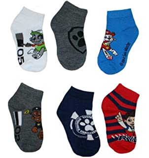 Nick Jr Paw Patrol Boys Socks 6 Pair Paw Patrol Toddler Socks Size 2t-4t