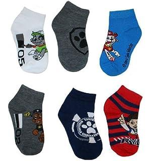 Nick Jr Paw Patrol Boys Socks 6 Pair Paw Patrol Toddler Socks Size 2t-4t
