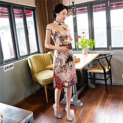 8fff673ed5f79 (上海物語)Shanghai Story 中華風 結婚式 披露宴 パーティドレス 膝柄 チャイナ
