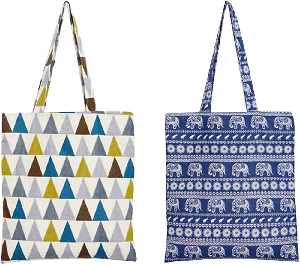 Caixia Womens Ethnic Tribal Print Canvas Tote Shoulderbag