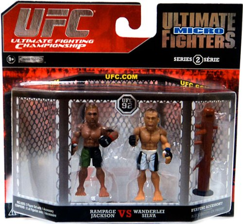 UFC Final Fighting Jakks Pacific Series 2 Micro Figure 2Pack Quinton Rampage Jackson vs. Wanderlei Silva