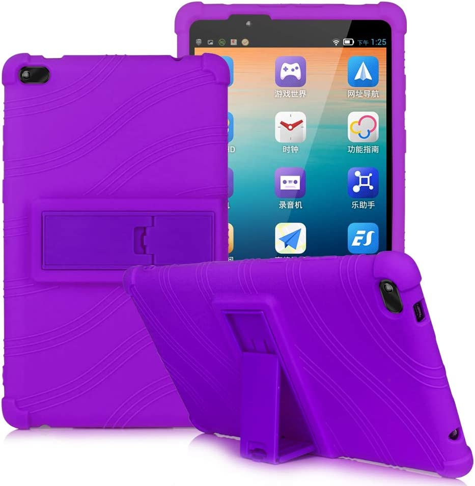 HminSen Colorful Cover for Lenovo Tab E8 Case, Light Weight [Anti Slip] Shock Proof Protective Cover for Lenovo TAB E8 TB-8304F TB-8304F1 Tablet Case (Purple)
