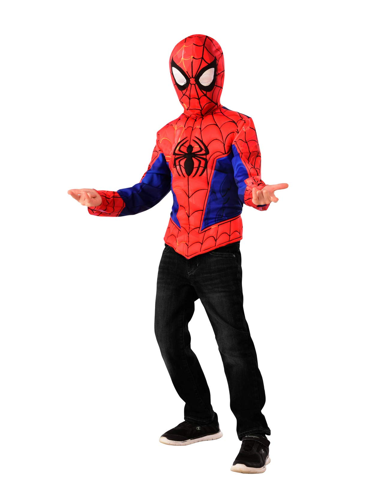 - 614a2OYipQL - Imagine by Rubie's Spider-Man Into The Spiderverse Muscle Shirt Set, Small