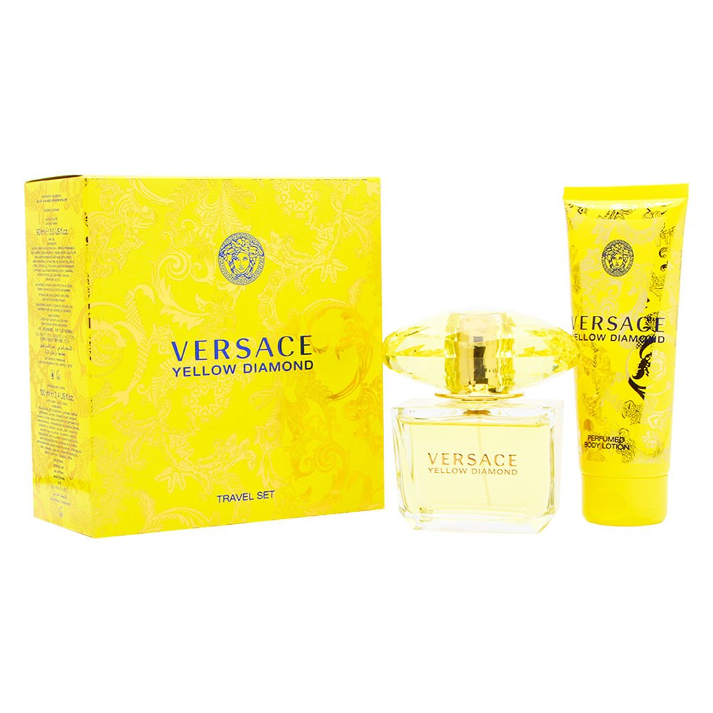Amazon.com : Yellow Diamond by Versace Gift Set Spray Edt Sray 3 ...