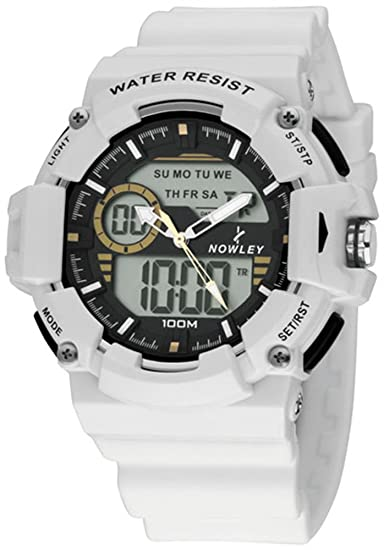 Reloj Nowley Hombre 8-6188-0-1 Analogico Digital Blanco: Amazon.es: Relojes
