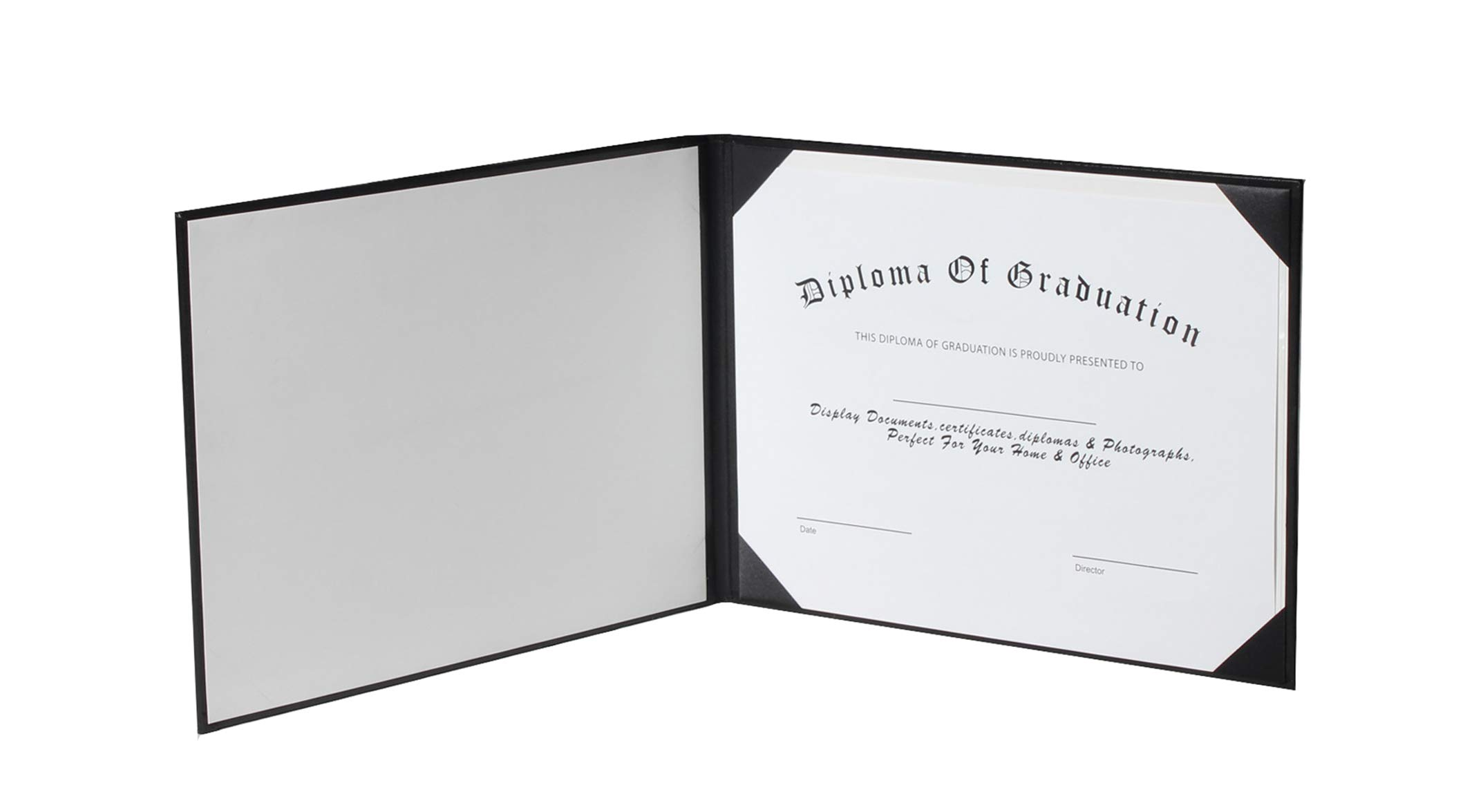GraduationService Smooth Diploma Certificate Cover 8 1/2'' x 11'' (Black) by GraduationService (Image #5)