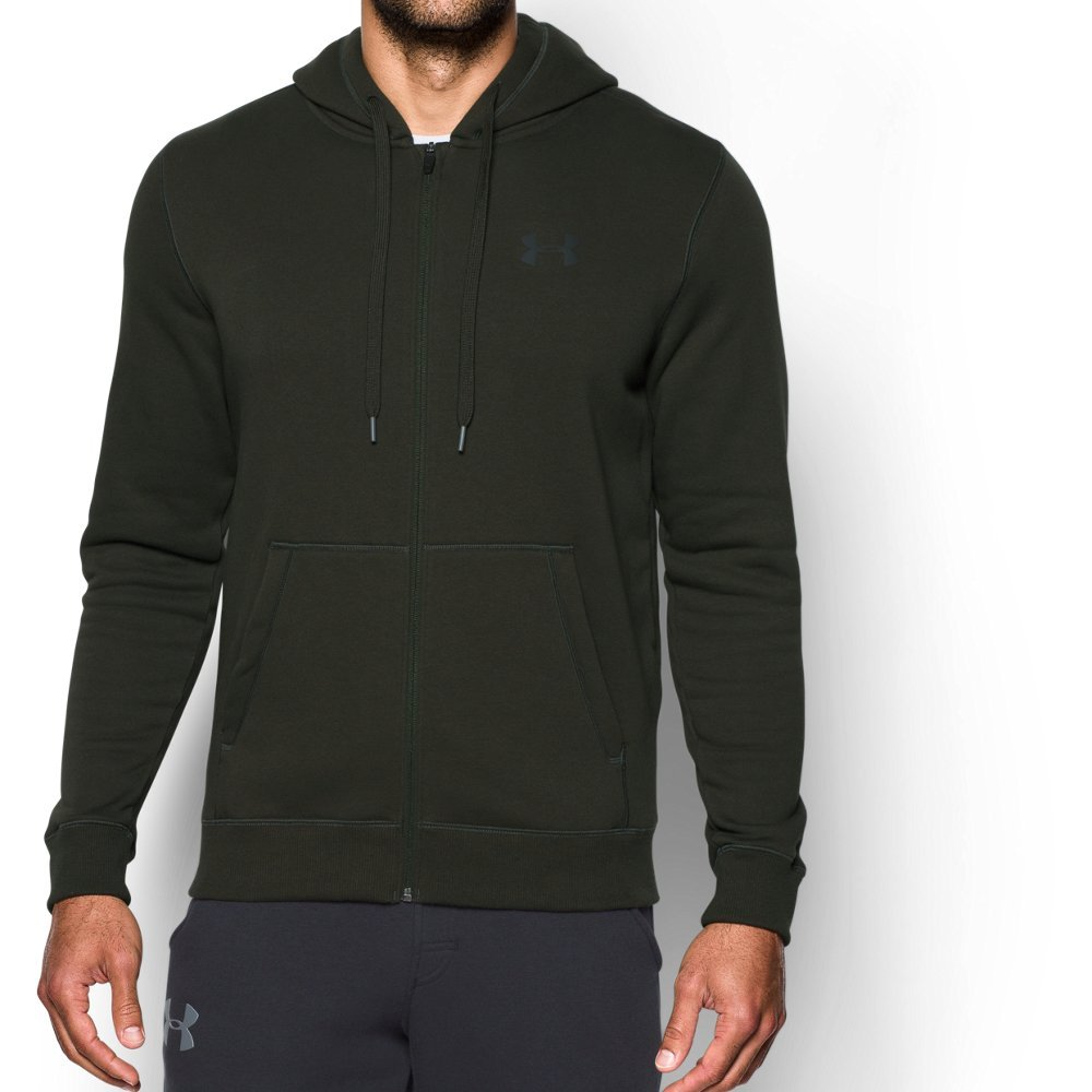Under Armour UA Rival Fleece Fitted Full Zip SM Artillery Green