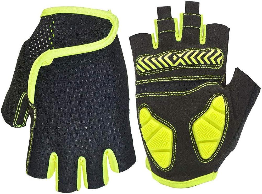 Nutteri Cycling Gloves MTB Gloves Fingerless Breathable Summer Bike Gloves for Men Women Shockproof Gel Anti Slip Half Fingers Glove Sports Fitness Gloves Training Gloves