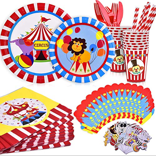 Carnival Circus Party Supplies Plates Dessert Plates Tableware For Kid Birthday Party Decorations Supplies ()