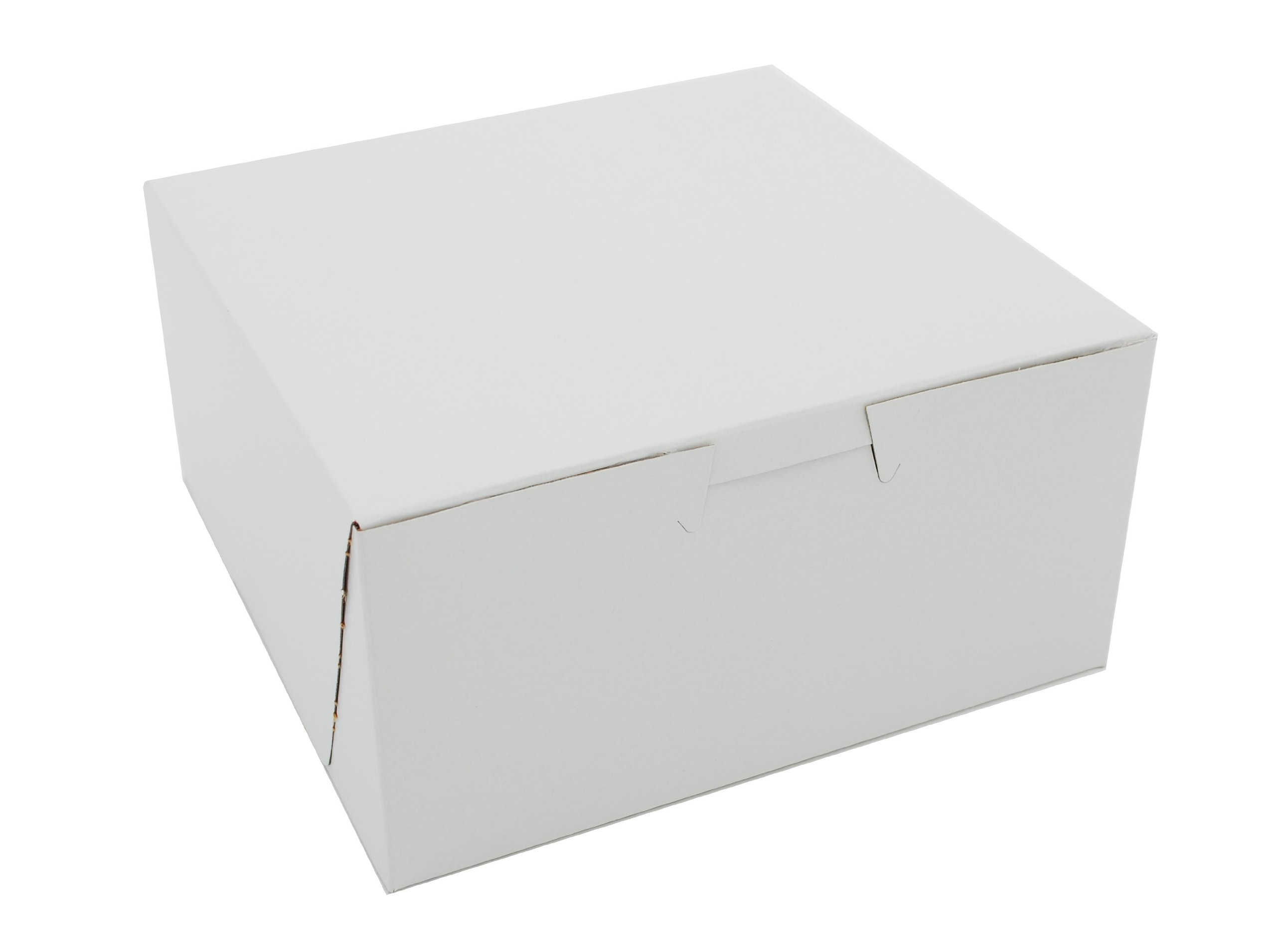 Southern Champion Tray 0905 Premium Clay Coated Kraft Paperboard White Non-Window Lock Corner Bakery Box, 6'' Length x 6'' Width x 3'' Height (Case of 250)