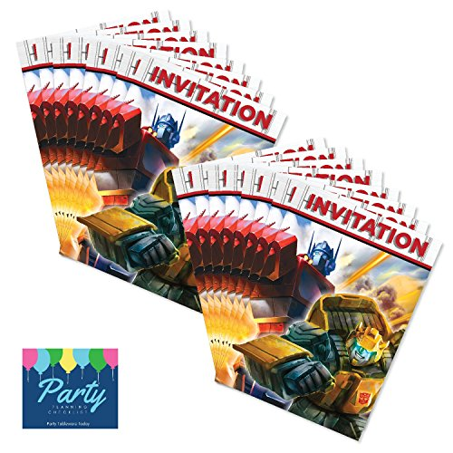 Party Tableware Today Transformers Birthday Invitations (16ct) by by Party Tableware Today