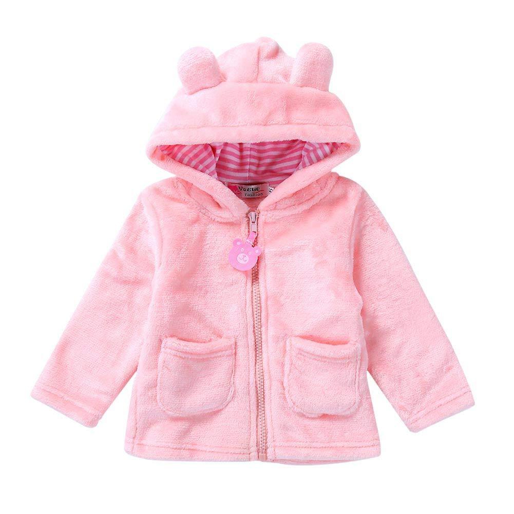 Animal Plush Outerwear Coat Winter Thicken Outfit Coat Baywell Newborn Baby Boys Girls Flannel Outfit Onesie,Unisex Baby Bear Pattern Romper Jumpsuit Warm Fleece Bodysuit