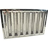 CAPTIVE AIRE Baffle Grease Filter for Captive-Aire Stainless steel 16'' H x 25'' W HRSA1625