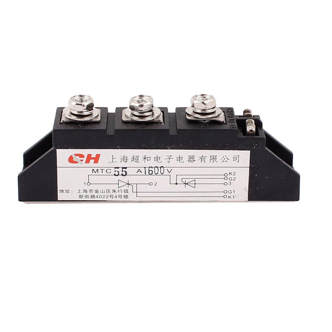 eDealMax MTC-55A Silicon contrôle MTC Thyristor redresseur Module 55A 1600V