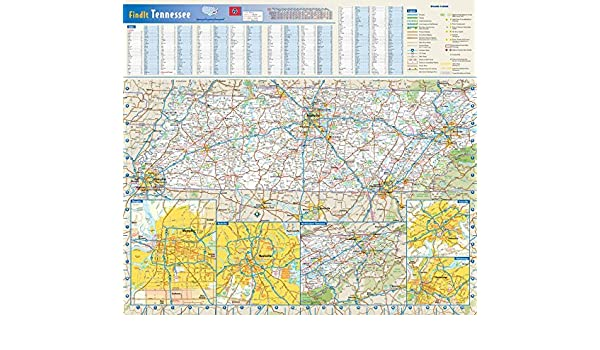 Amazon Com Tennessee State Wall Map 20 75 X 18 5 Paper