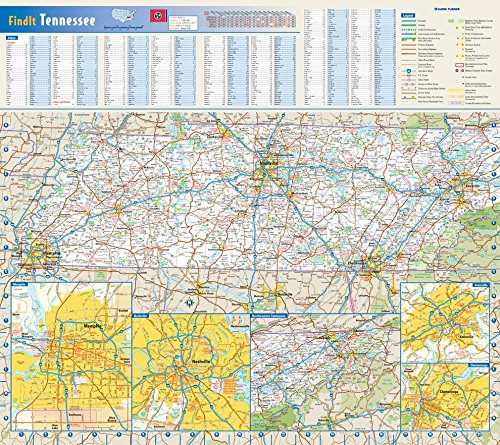 Tennessee State Wall Map - 20.75