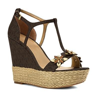 98ebfe53664 Michael Michael Kors Women's Heidi Wedge Mini Logo Sandals